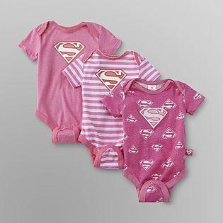 DC Comics Batman -3-Pack Infant Girl's Bodysuits