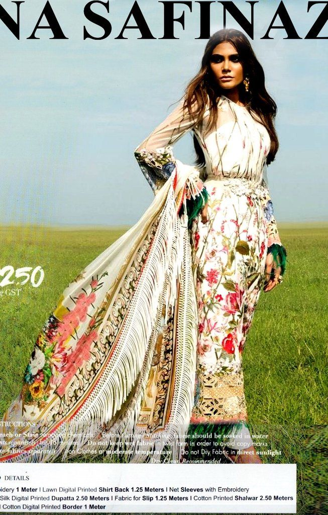 f2e29a7889 Buy Pakistani Designer Dresses Online by Sana Safinaz Work Embellished with  Threads Embroidery and Patches work at Nameera by Farooq, Visit Now : www.