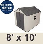 Lifetime Outdoor Storage Shed 6405 Sentinel 8 X 10 Ft Shed Storage Outdoor Storage Sheds Storage Shed