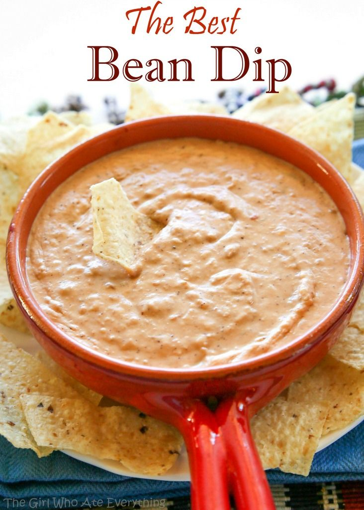 This is the Best Bean Dip Ever – creamy, spicy, and the perfect texture for dipping. Bring it to a friend's house to watch the game and it'll be a hit.During my last pregnancy I had an overwhelming cr