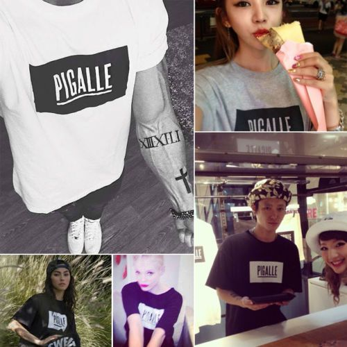 PIGALLE-LOGO-Clothing-JAY-Z-T-Shirt-kanye-pyrex-ASAP-Graphic-vintage-sunmer
