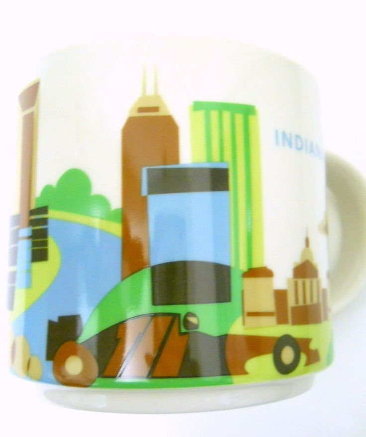 New Starbucks Indianapolis 2016 Coffee Mug You Are Here Fairgrounds Racetrack #Starbucks