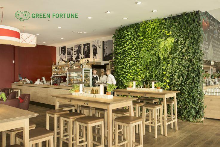 Green Fortune plantwall, vertical garden, restaurant design, groene wand, Pflanzenwand