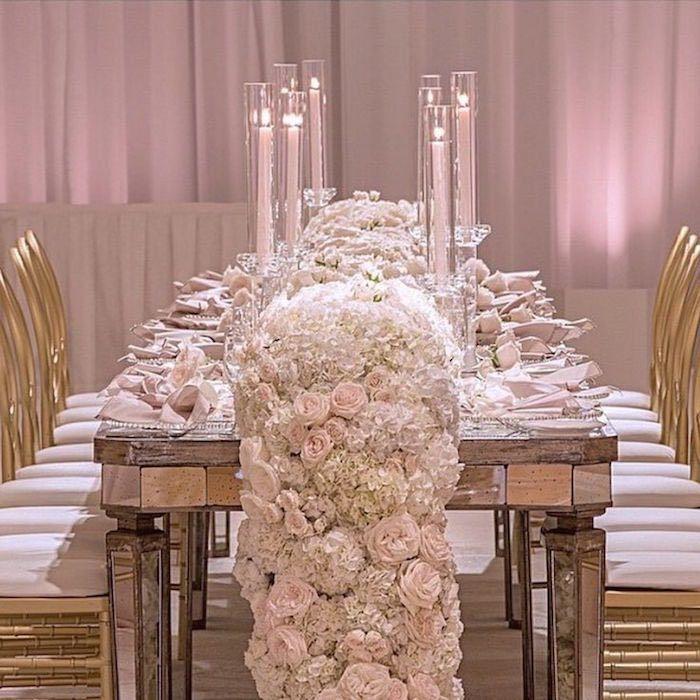white wedding centerpiece idea; via Details Details