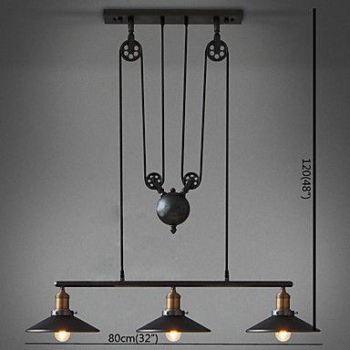 Pendelleuchten , Retro Korrektur Artikel Eigenschaft For LED Ministil  Metall Wohnzimmer Schlafzimmer Esszimmer Studierzimmer/Büro