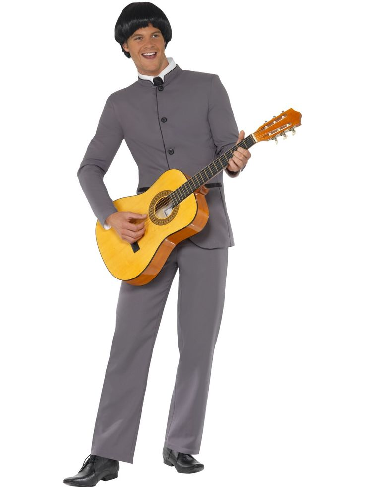 Beatles-asu. Beatles -naamiaisasu on siisti harmaasävyinen miesten puku, jollaisessa yhtye esiintyi koko jäsenistönsä voimin.