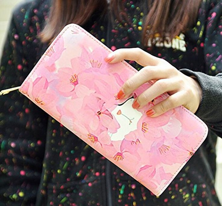 Big Capacity Animal Cartoon Cute Clutch Wallet Purse Bag Billfold Cell Phone Pouch for Girls