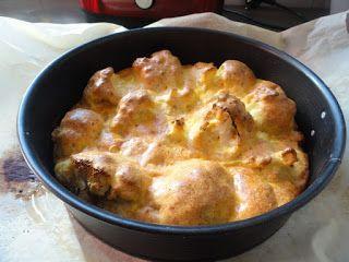 Imádom, ahogy a konyhánkba besüt a nap... Hozzávalók: 1 fej karfiol 1 dl kókusztejszín 6 tojás 1-1.5 pohár parmezán ...