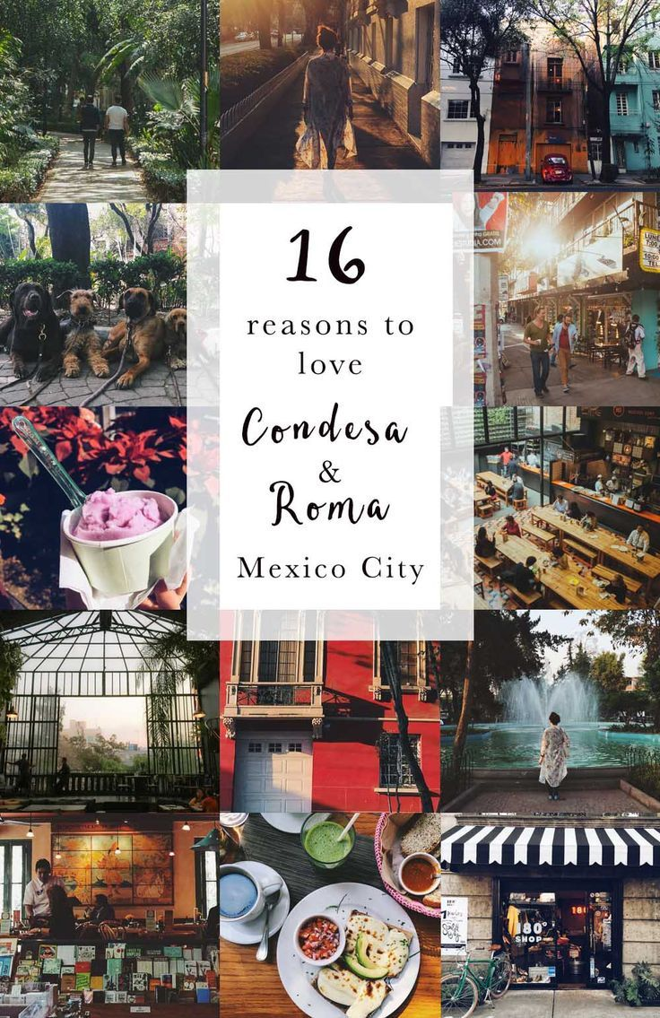 16 Reasons to love La Condesa / Roma in Mexico City. Things to do, and places to eat, drink and go out.