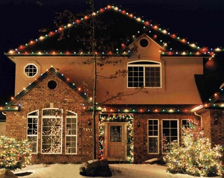 Old Fashioned Colored Christmas Lights