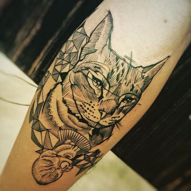 Jacknight cria tatuagens fantásticas com alto nível de detalhes e precisão