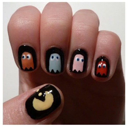 17 Best Ideas About Pac Man Nails On Pinterest
