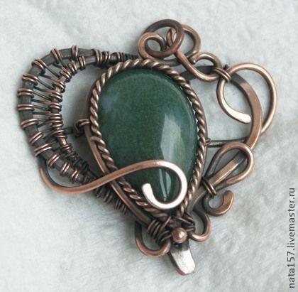 Кулоны, подвески ручной работы. Ярмарка Мастеров - ручная работа Кулон Сердце wire wrap. Handmade.