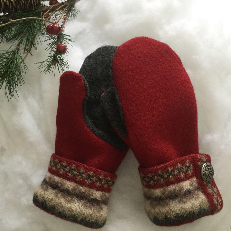 Warm woolen mittens from sweaters ❄️