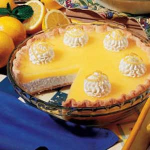 Lemon Supreme Pie, Taste Of Home  (Vicki Note: The original recipe, from the '98 magazine, calls for 1 1/2 C sugar, and 2/3 C lemon juice for the filling...the webite varied this recipe, but, when prepared with changes above, it tastes JUST like the Baker's Square or Villige Inn pie!)