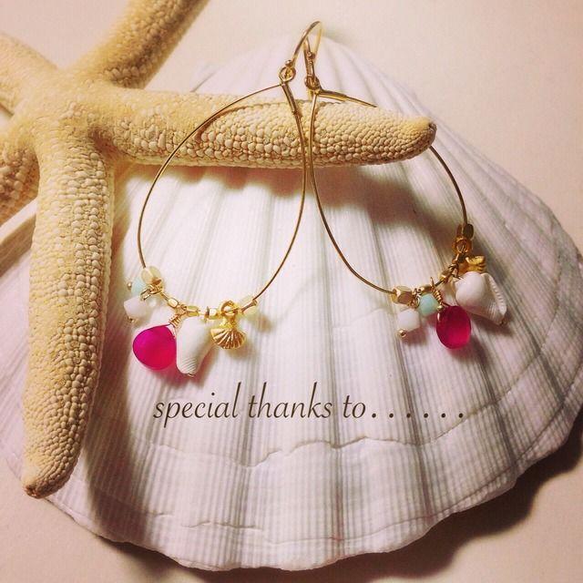 ☆再販☆pink chalcedony hoops(価格改定) by cocosalt アクセサリー ピアス