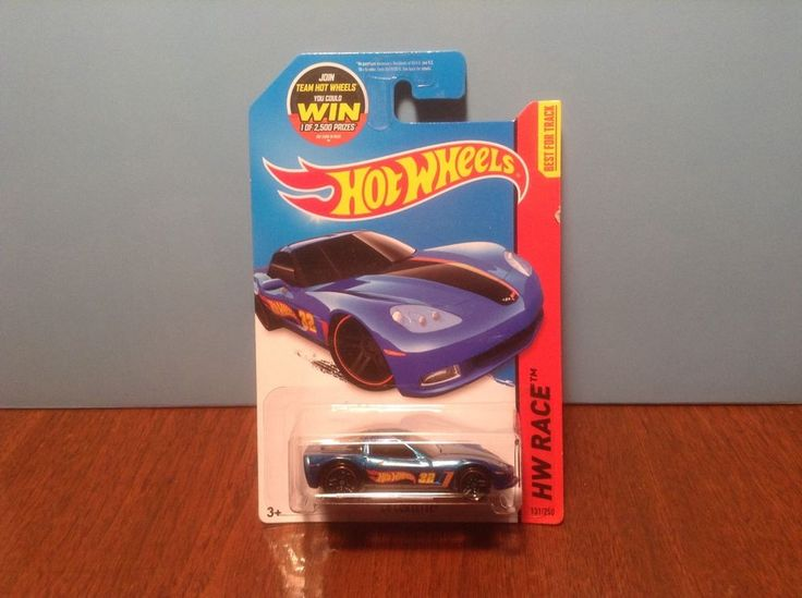 Hot Wheels C6 Corvette #131 HW Race Team 2015 Blue Chevrolet 50 Cent Comb Ship #HotWheels #Chevrolet