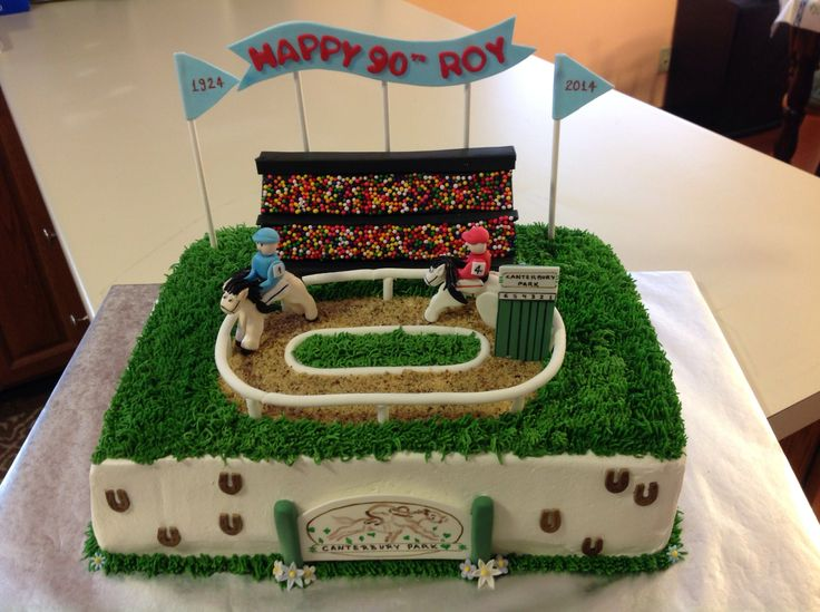 Cake Decorations Horse Racing : Horse racing cake - the cake was frosted with buttercream ...