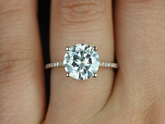 Eloise 14kt Rose Gold Round FB Moissanite and by RosadosBox