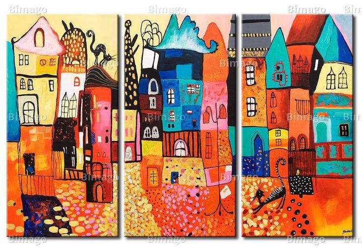 Tableau Maisons colorées