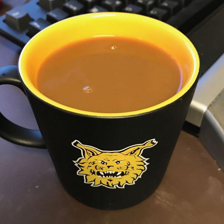 Nyt kelpaa kahvitella. #Ilves