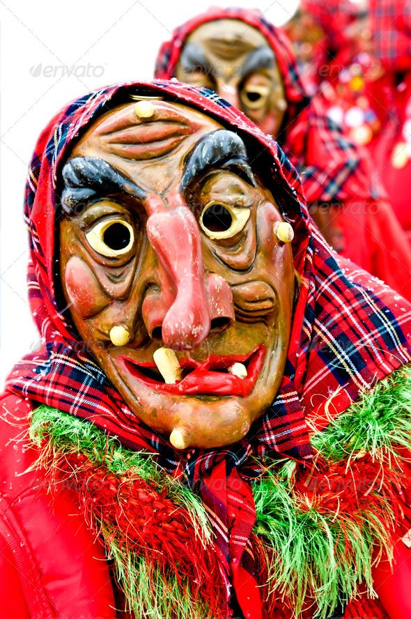 Carnival in Germany ...  Alemannian, carneval, carnival, clown, costume, culture, devil, disguise, dress, editorial, europe, event, festival, figure, german, germany, mainz, mask, masquerade, monday, party, performance, procession, rose, rosenmontag, shrove, shrovetide, tradition, traditional, witch