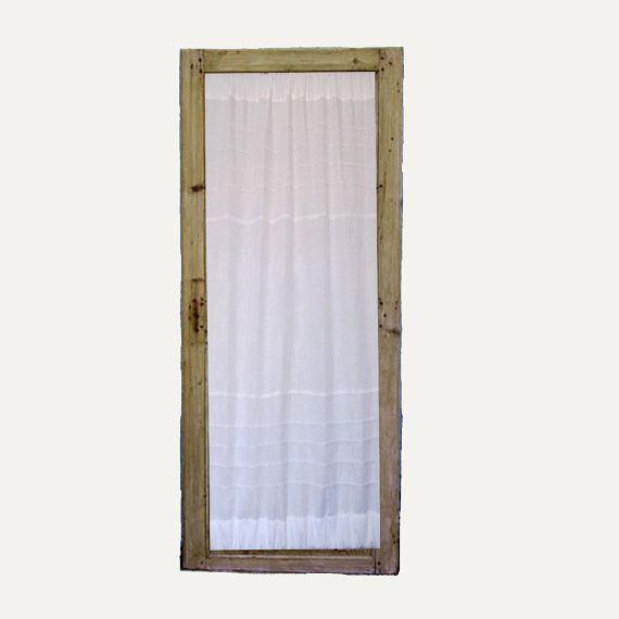 High Quality Linen Door Panel, Kitchen Glass Door Curtain, French Linen Sidelight Curtain,  Paris Decor