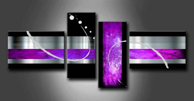 MA_023 / Cuadro Abstracto lila, compuesto por 4 piezas