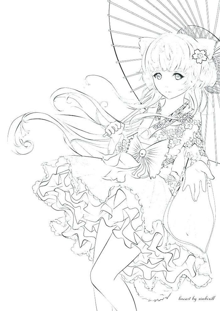 Anime Coloring Pages PDF - Free Coloring Sheets Mermaid Coloring Pages,  Cartoon Coloring Pages, Disney Princess Coloring Pages