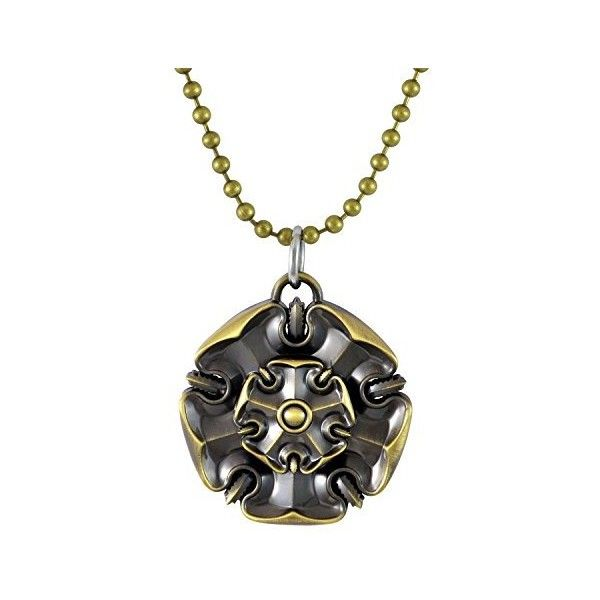 Sarah House Tyrell Game of Thrones Pendant Necklace for Men Gold ❤ liked on Polyvore featuring men's fashion, men's jewelry, men's necklaces, mens gold necklace, mens gold pendant necklace and mens yellow gold cross necklace