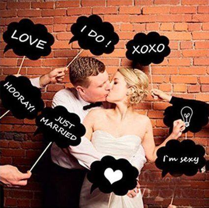 面白おかしくお祝いしたい♡結婚式のキュートで個性的なフォトプロップスのまとめ一覧♡