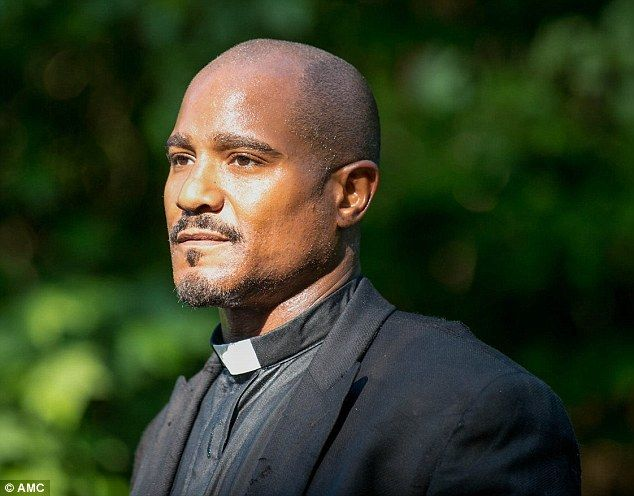 Confounding character: Father Gabriel Stokes, played by Seth, is shown in a 2014 still from the season five episode Strangers