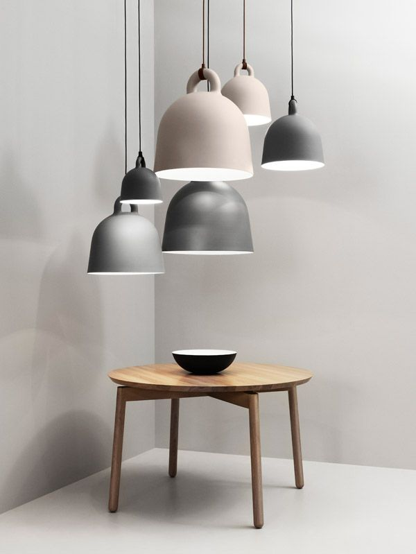 Bell lights in earth and soft shades | lighting . Beleuchtung . luminaires | Design: Norman Copenhagen |