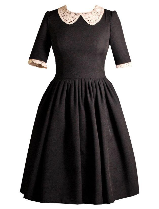 Knielange Kleider - T.O.N.Y Blusenkleid - Bubikragen - ein Designerstück von Femkit bei DaWanda
