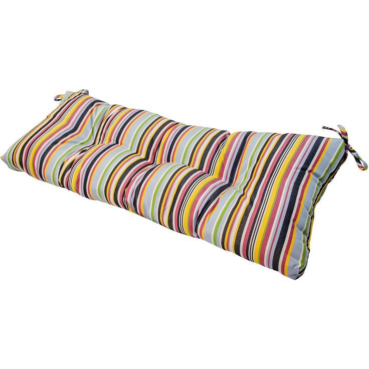 "46"" Sunbrella Outdoor Swing/Bench Cushion Stripes"