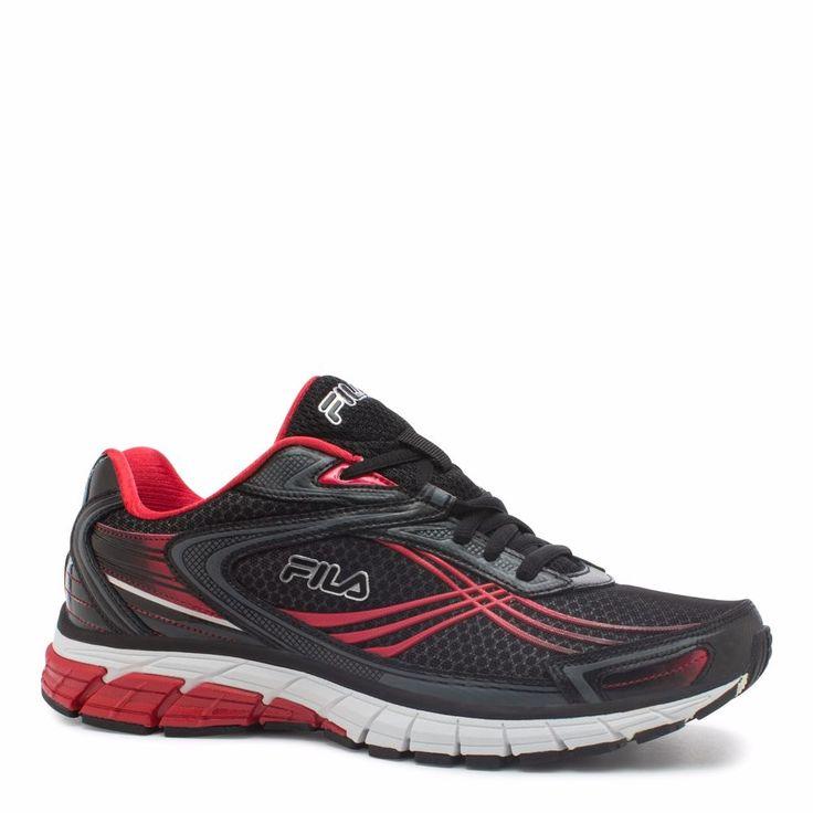 New Fila Men's Nitro Fuel 2 Energized Running Shoe Sz 11 Blk/rd/cstl #Fila #Casual