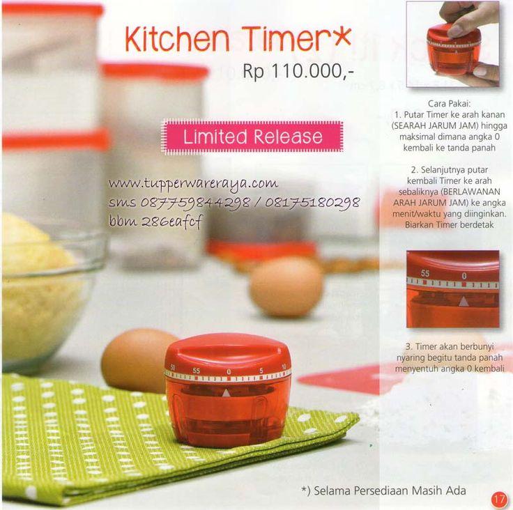 Katalog Tupperware Promo Agustus 2014 - Kitchen Timer