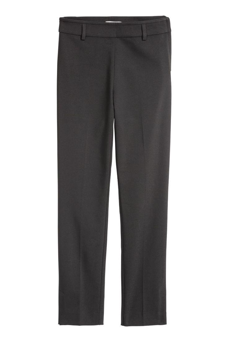 Cigarette trousers - Black - | H&M 2