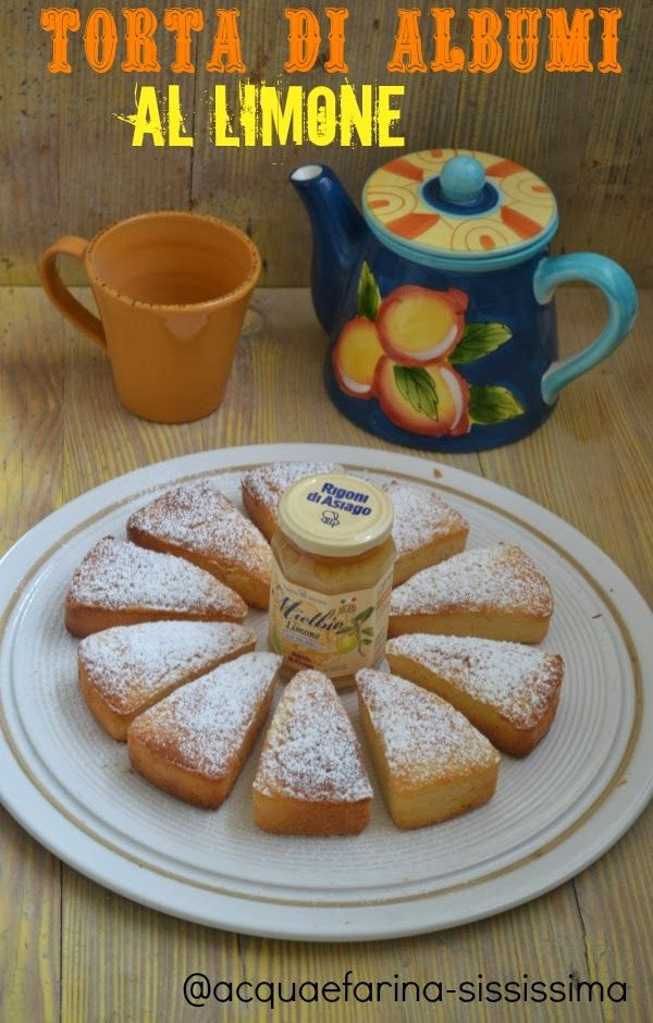 torta di albumi al limone - Ingredients: 200 gr whites 120 gr butter 200 gr flour w170 GAROFALO 30 gr starch potatoes 130 gr caster sugar, zest 1 lemon, juice of 2 lemons, 1 sachet baking.  Work butter with sugar until creamed, add zest of grated lemon and the filtered lemon juice. Beat egg whites til stiff, then gently unite w/butter cream, add the sieved flour with the yeast and the potato starch, a little at a time, mixing gently. Pour mixture into a mold and bake 40 min. @180 °C.