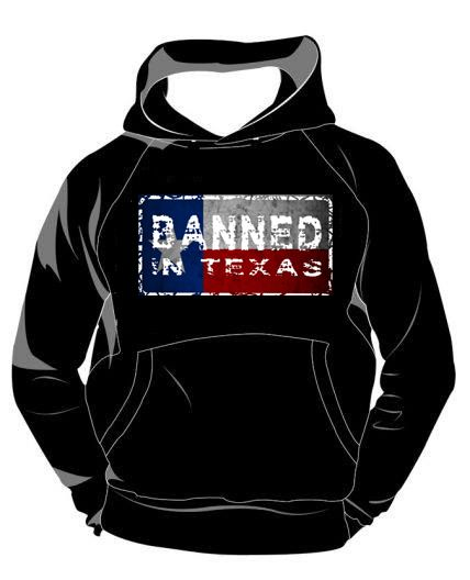 Banned in Texas Hoodie. Sizes  Small - 5XL. Buy now from our Facebook store.