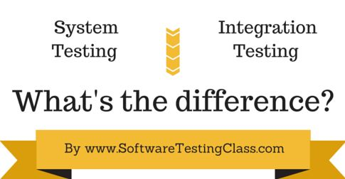 When two or more modules are combined and tested, it is called integration testing. After all the modules are combined and the complete system is made, testing of the whole system is known as system testing.