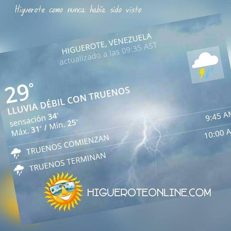 Así está el clima en Higuerote en estos momentos #lluvia #ambiente #naturaleza #playa #clima #nubes #lloviendo #metereologia #tiempo #pronostico #Higuerote #Barlovento #Miranda #Venezuela
