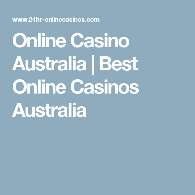 best online casino games australia
