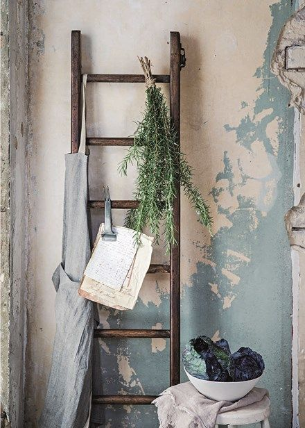 Decorate with flowers - Beautify your kitchen with a bunch of fresh herbs, hung upside down and ready for drying. Home Beautiful
