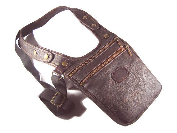 Halftertasche Männertasche Tasche Mann braun von AnnaBelleBags