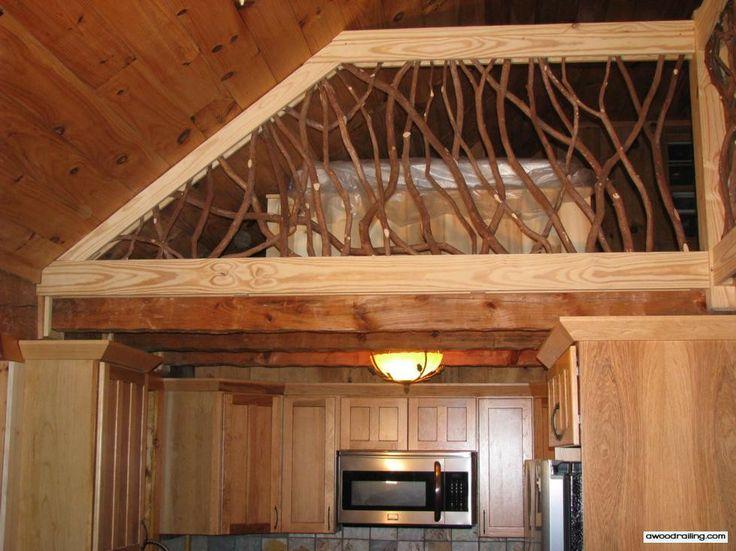 Rustic Wood Railing ,wonder if John could build this