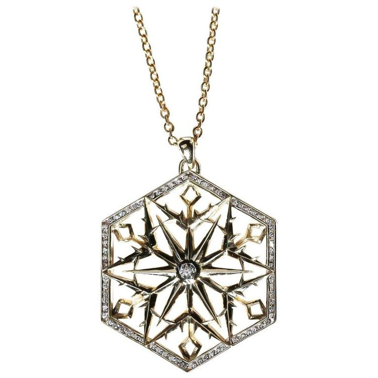 Snow Queen Diamontrigue Jewelry: Snow Queen Diamond Gold Necklace In 2019