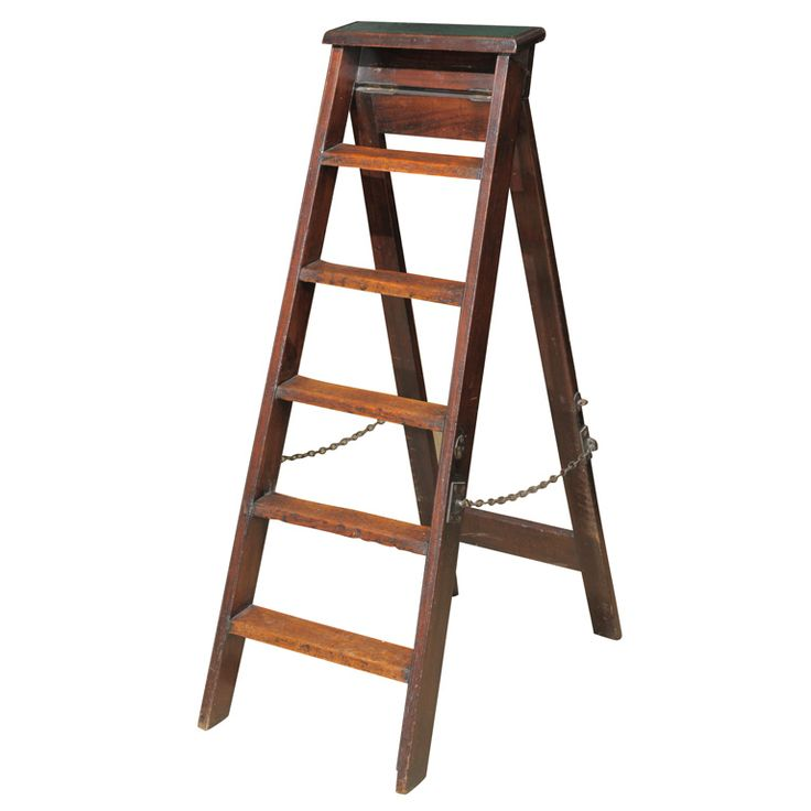 Library Ladder | From a unique collection of antique and modern ladders at https://www.1stdibs.com/furniture/more-furniture-collectibles/ladders/
