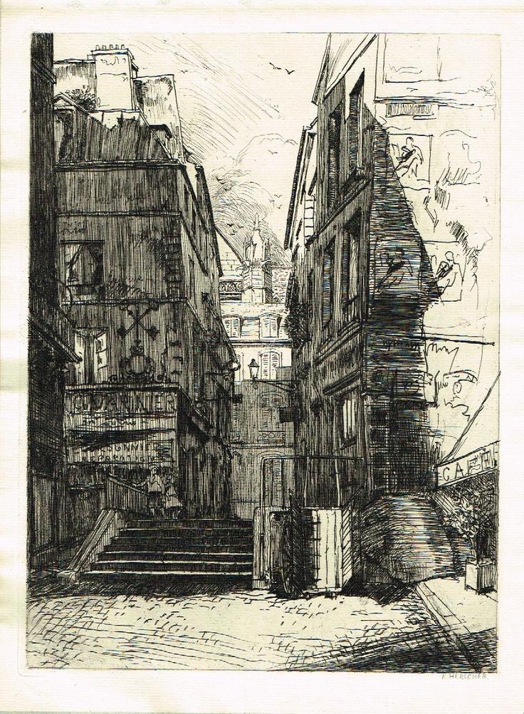 Rue Saint-Bon - Paris - Du milieu de la rue et dans l'axe de la rue Pernelle (1911)