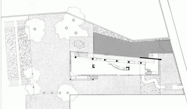 AD Classics: Villa dall'Ava. Location: Villa Dall'Ava, Avenue Clodoald, 92210 Saint-Cloud, France; firm: OMA; garden: Yves Brunier; Photographs: Peter Aaron/OTTO, Hans Werlemann, courtesy OMA; year: 1991